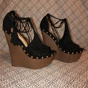 "Justfab Wedges size 6"" great condition!"